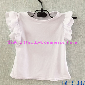 1d83dd33eb1db Bulk Wholesale Kids Cotton Tank Tops Boutique Baby Girls White Sleeveless  Flutter Tees Shirt For Summer Im-bt037 - Buy Girls Flutter Tees,Girls Plain  ...