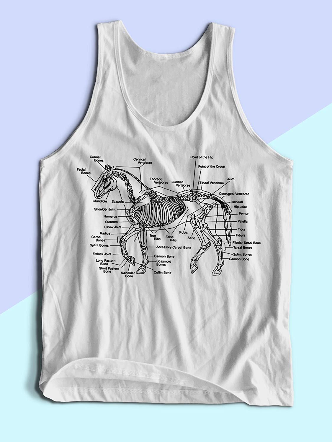 481c3327c ... Riding Horse Organic Cotton T Shirt. Get Quotations · Horse Anatomy  Tank Top - Mens Graphic Tank Tops - Tank Tops for Men - Horse