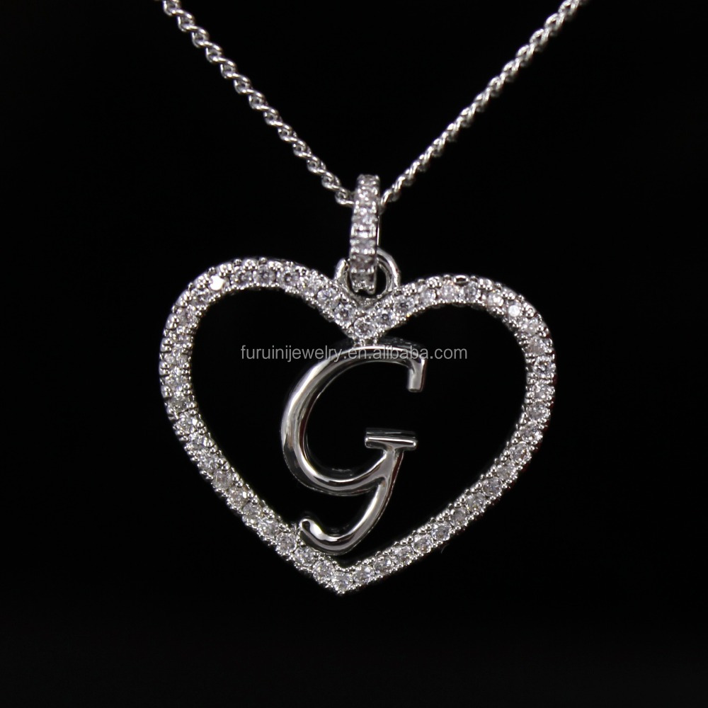 beautiful design 925 silver letter g necklaceletter initial necklace buy letter pendant necklaceletter necklacefashion jewelry product on alibabacom