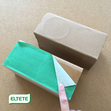 Tube core paper pallet foot with adhesive