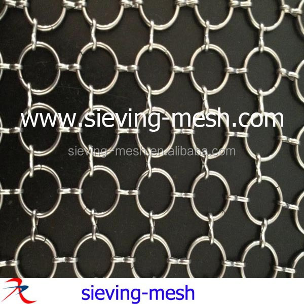 Curtains Ideas chain mail curtains : Decorative Aluminum Chainmail Curtains,Metal Round Rings Link Mesh ...