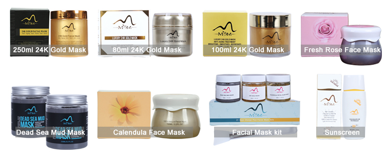 Rifornimenti di bellezza Migliore Qualità del Commercio All'ingrosso Coreano Cosmetici 24 k Oro maschera Per il Viso
