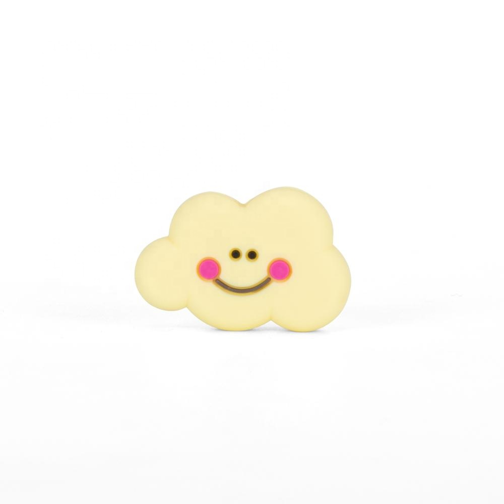BPA Free Food Grade Funny smile cloud teether silicone beads
