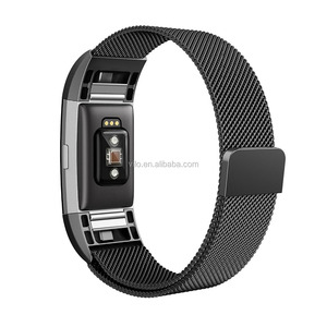 Hot sales for charge 2 Milanese Loop Stainless Steel bands Strap for Fitbit Charge 2 watch band