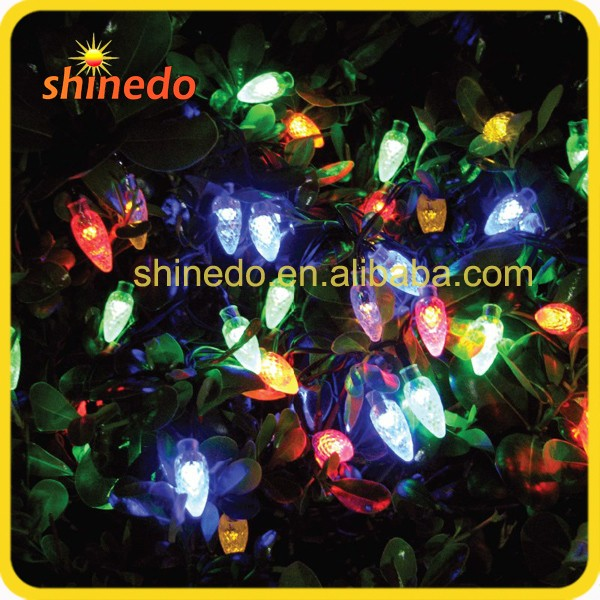 35 led Christmas Solar String Lights For Outdoor Patio Garden Lawn Fence pergolas Party with Warm White Strawberry