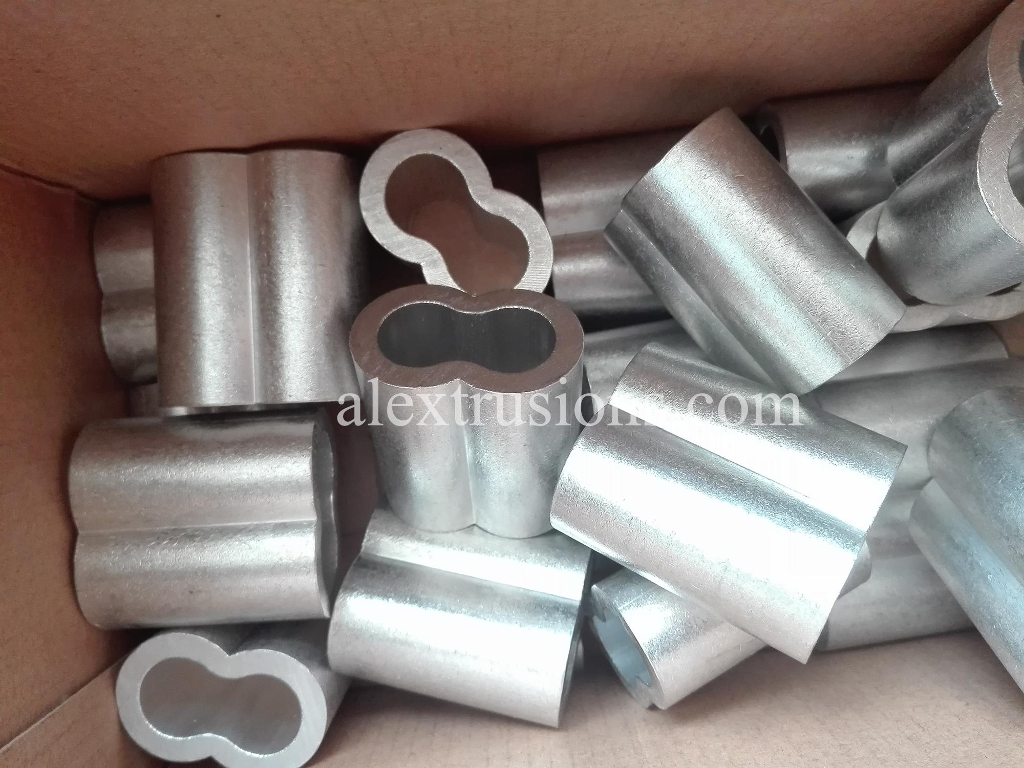 Aluminium Zandloper crimp Mouwen adereindhulzen Voor Rigging