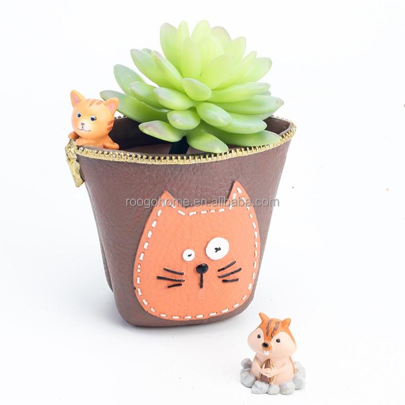 roogo resina casa de gato forma resina maceta maceta rbol de alta calidad precio barato
