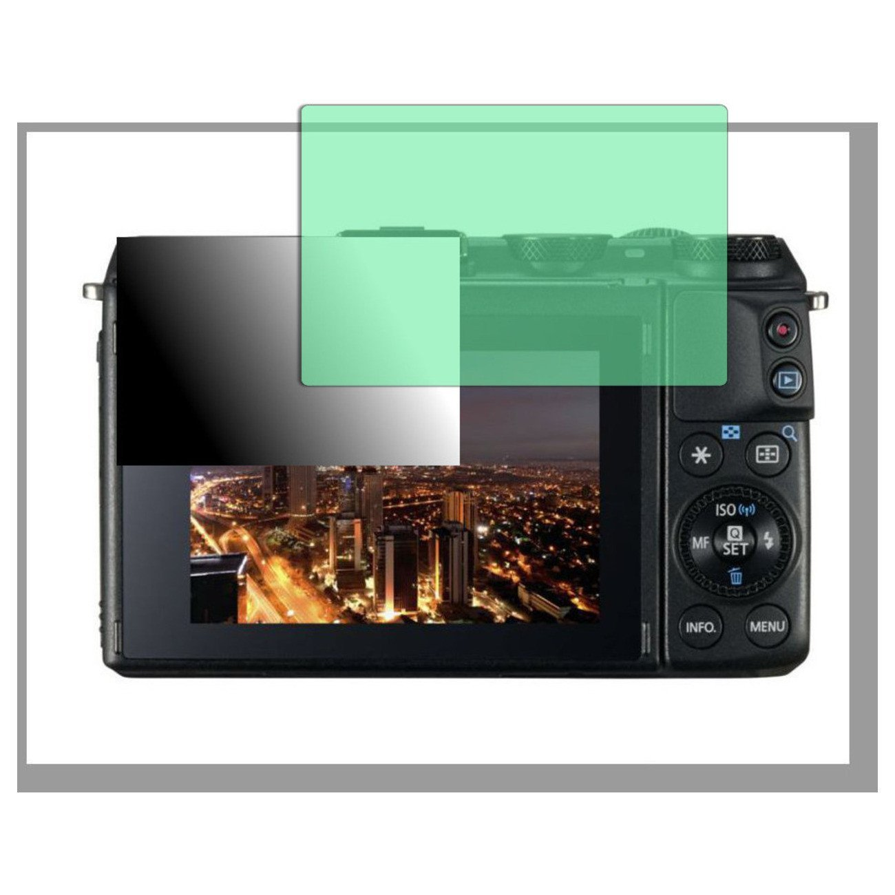 Golebo Screen Film for Privacy protection green for Canon EOS M3 - PREMIUM QUALITY
