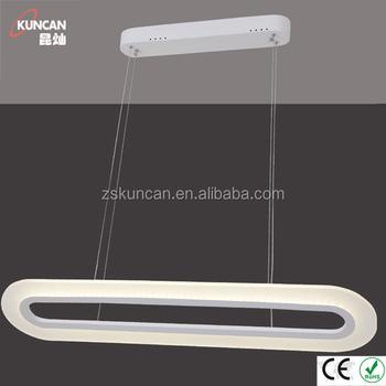 Modern Linear LED Pendant Lights For Dining Table
