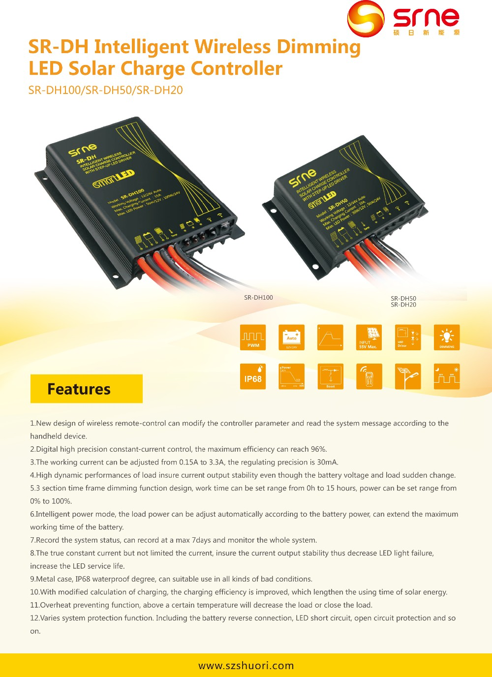 Dh100 Wireless Remote Control Pwm Solar Street Light Charge Led Controller Circuit Diagram