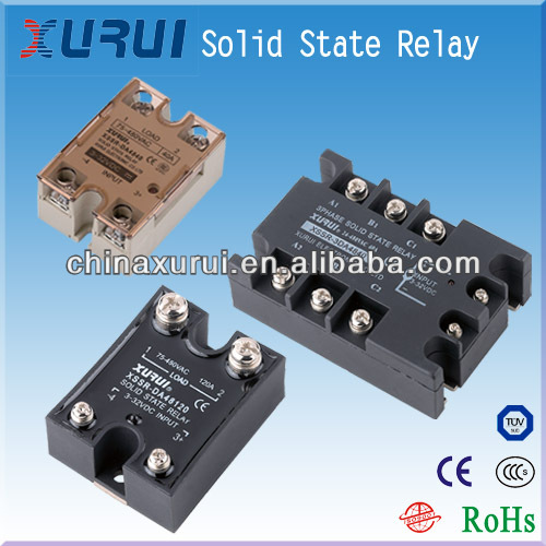 three phases solid state relay / 240v power relay / types of electrical relays