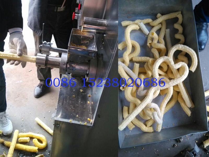 Automatic Puffed Corn Snacks Making Machine Ice Cream Corn Puffing ...