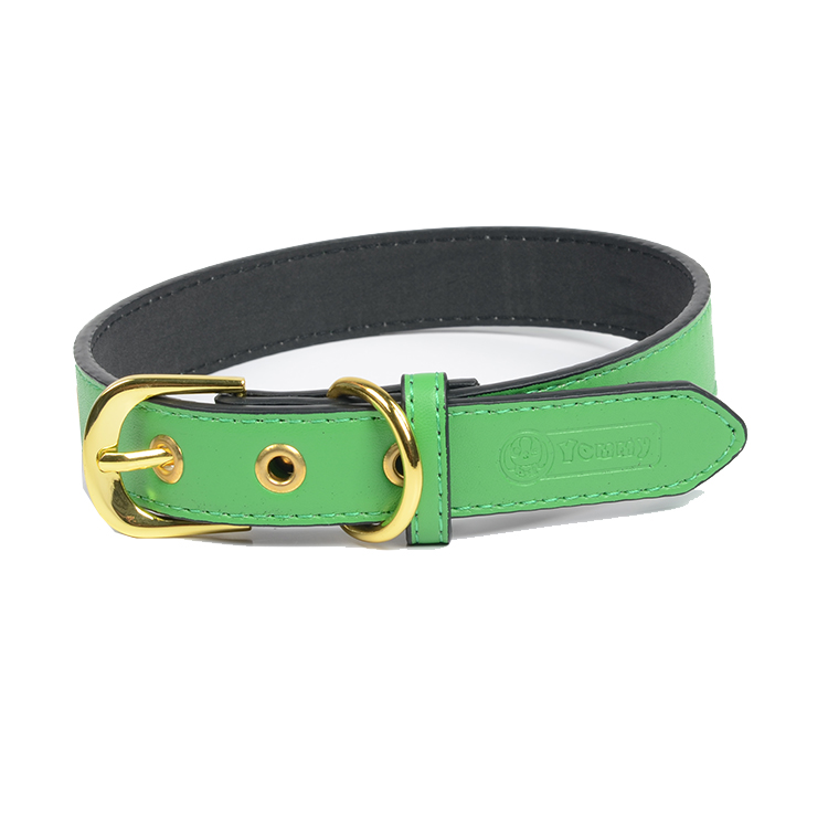 Factory Wholesale Cheap Colorful Design Soft Leather Dog Collar