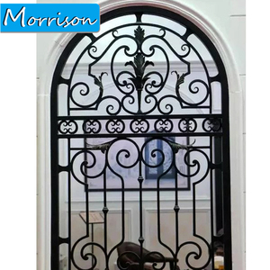 China Manufacture Professional High Quality Wrought Iron Metal Door Design Inserts