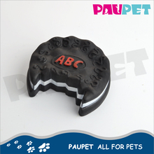 Wholesale design good-looking oreo biscuit shape pet vinyl toy