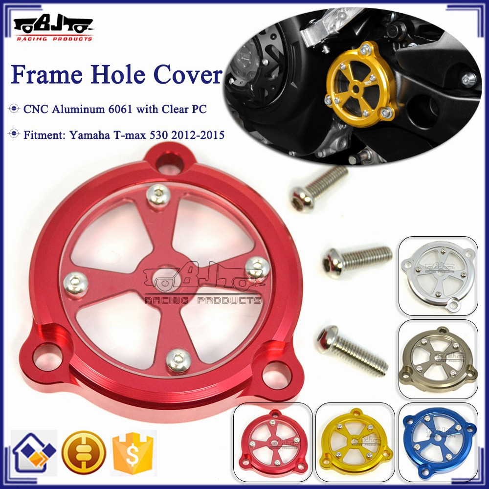 BJ-FHC-YA001 Motorcycle CNC Aluminum Frame Hole Cover Front Drive Shaft Cover For Yamaha T-max 530