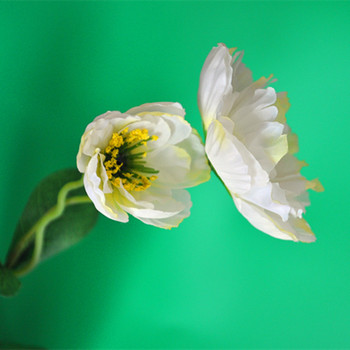 Artificial Wholesale Decorative Cloth Making White Poppy Flower ...