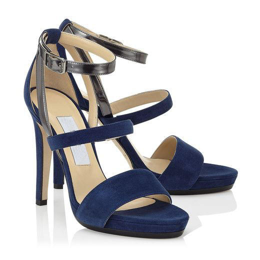 d6c0590efa3d Get Quotations · Blue Flock Buckle Strap Fashion Shallow Cover Heel Sexy  Women Shoes Summer Sandals 2015 Custom Made