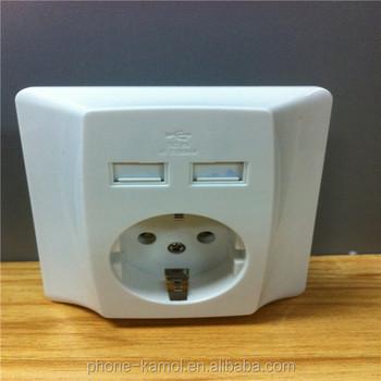 110v/220v Electrical Wall Outlet/usb Socket Wall Europe - Buy Usb ...