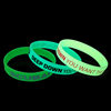 Promotional Custom Silicone Glow In The Dark Luminous Silicone Wristband