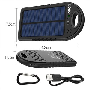 2018 hot real capacity 5000 mah portable solar charger rohs manual, solar power bank for cell phones