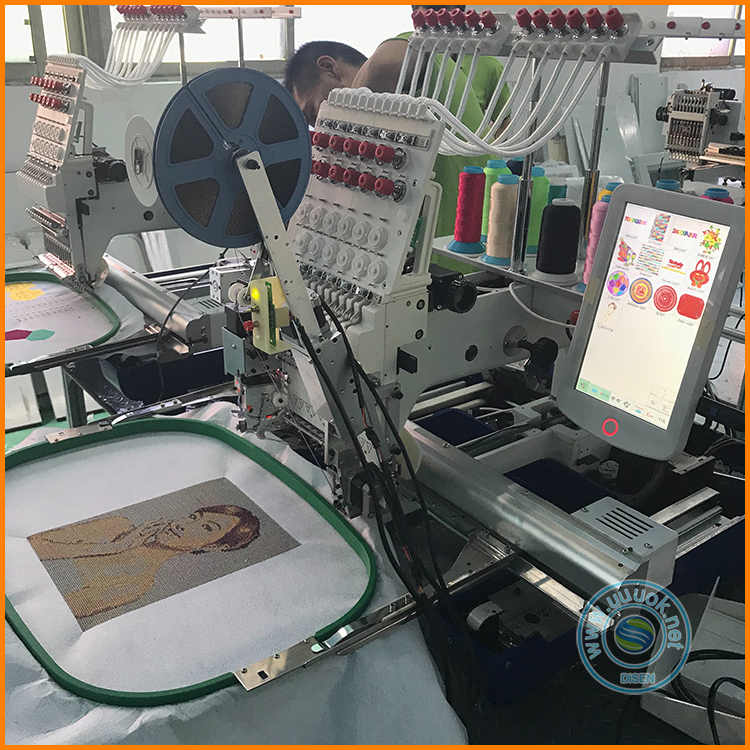 Factory Supplier embroidery machine one head computerized single 1