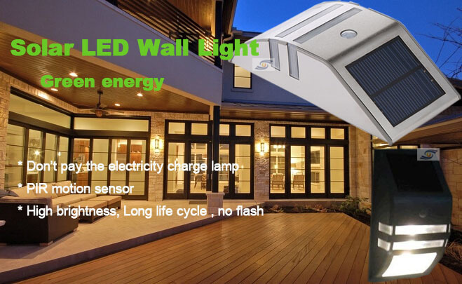 2015 Wall Lights Battery Operated Solar Motion Sensor Led Outdoor ...