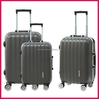 Wholesale smooth hard shell lugage bag travel trolley luggage