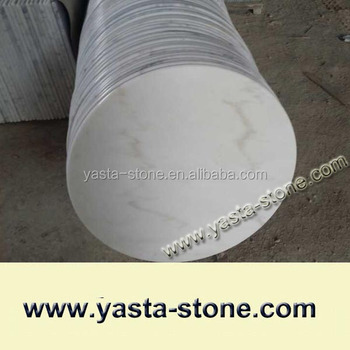 30 Inches Round White Marble Table Top