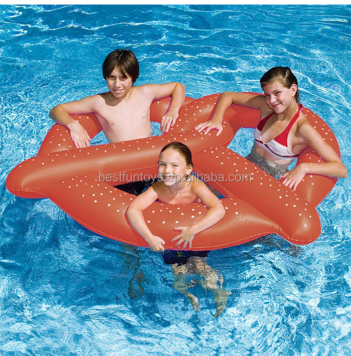 Kids 3 Giant Pretzel Toy Summerl Inflatable Float Swimming Pool ...