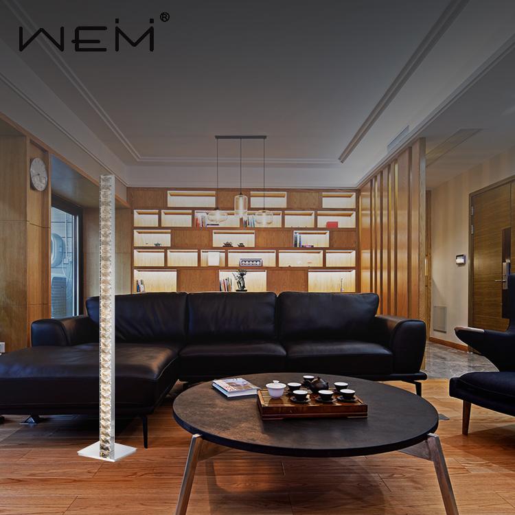 중산 판매 크리스탈 플로어 램프 침실 로비 장식 조명 현대 디자인 서 플로어 램프