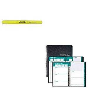 KITHOD29602UNV08851 - Value Kit - House Of Doolittle Express Track Weekly/Monthly Appointment Book (HOD29602) and Universal Pocket Clip Highlighter (UNV08851)