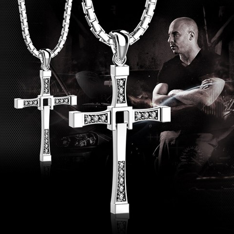 Wholesale Fashion European Style Jewelry Mens Womens Cross Pendant with Crystal