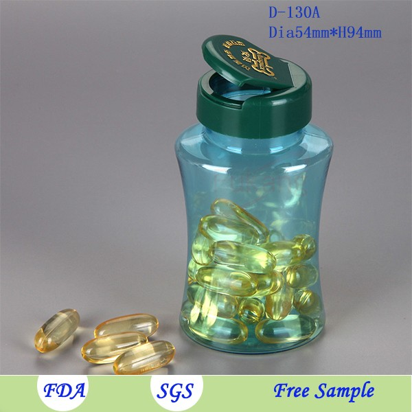 new unique 130ml sexy pet bottle with screw cap for nutraceutical industry use, vitamin capsule plastic bottles