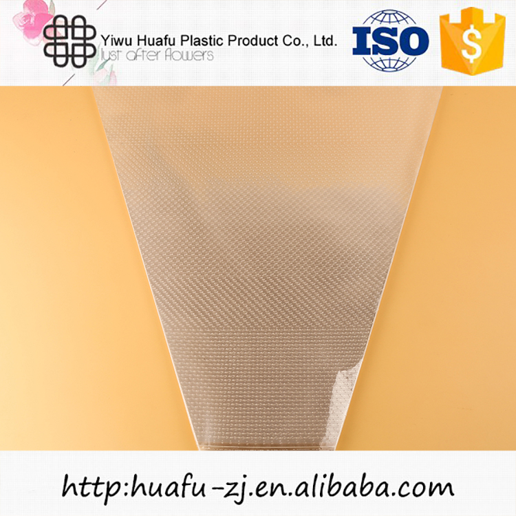 New arrival super quality highly transparent clear plastic blank flower sleeve