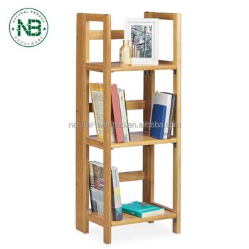 3 Tier Bathroom Shelf Bamboo Freestanding Shelving Unit Tower Storage Organizer Display Rack