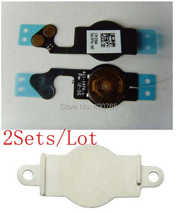 ( 5G509B02AM ) ( 2 компл./лот а . м . ) 100% гарантия на iPhone 5 5 г шлейф и большой металлический
