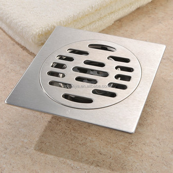 Stainless Steel Bathroom Shower Stall Drainer Strainer Drain Protector Cover Heavy Duty