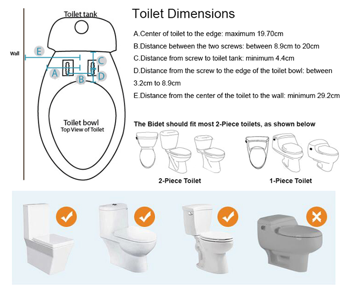 ARUN BIO BIDET TOILET SEAT AND FOR DISABLED