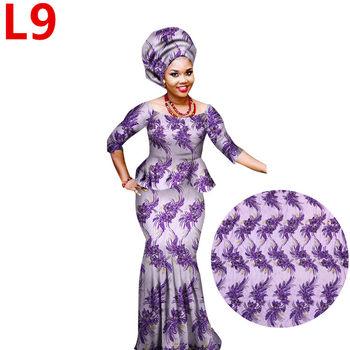 Beautiful African Lace Dresses Style Nigerian Womens Maxi Long Dress