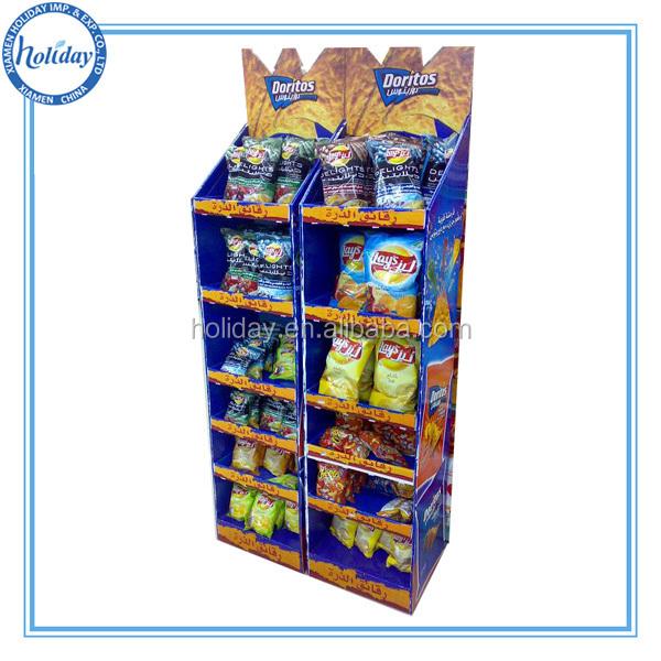 Grocery Display Shelf Potato Chip Stand