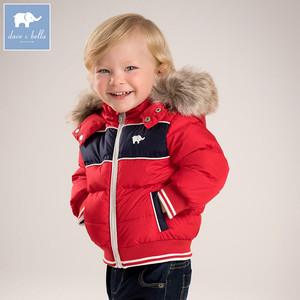 54eabb10bdc0 DB5917 dave bella winter infant baby boys down jacket children white duck  down padded coat kids red hooded outerwear