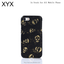 2017 fashionable newest design popular hot selling mobile phone accessories 3D skull back case for iphone 8