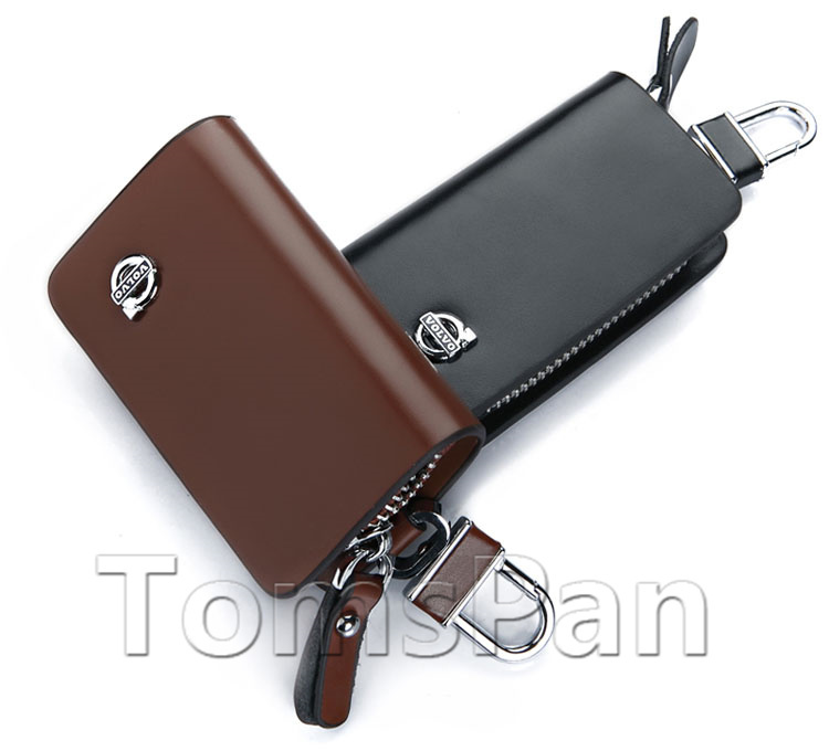 cover bag leather car key genuine tiao holder accessories case volvo automotive
