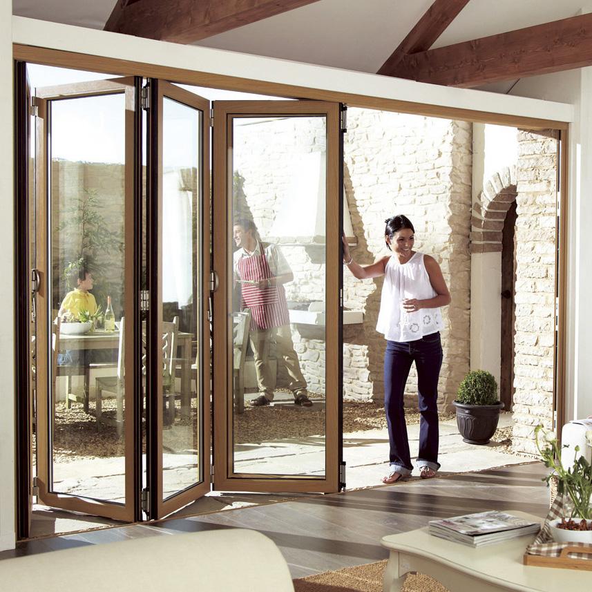 Venta Al Por Mayor Exterior De Vidrio Puertas Plegables