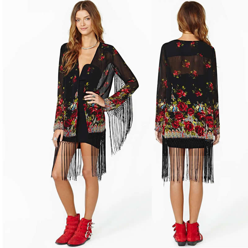 Cheap Black Sheer Kimono, find Black Sheer Kimono deals on line at ...