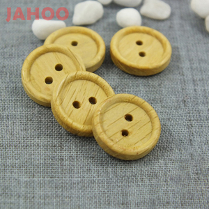 2 Holes China Marketed Natural Wood Material Sewing Button For Garment Sweater
