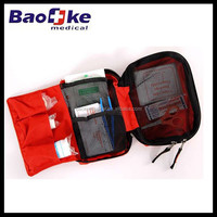 Compact light weight portable motorist medical pouch with contents