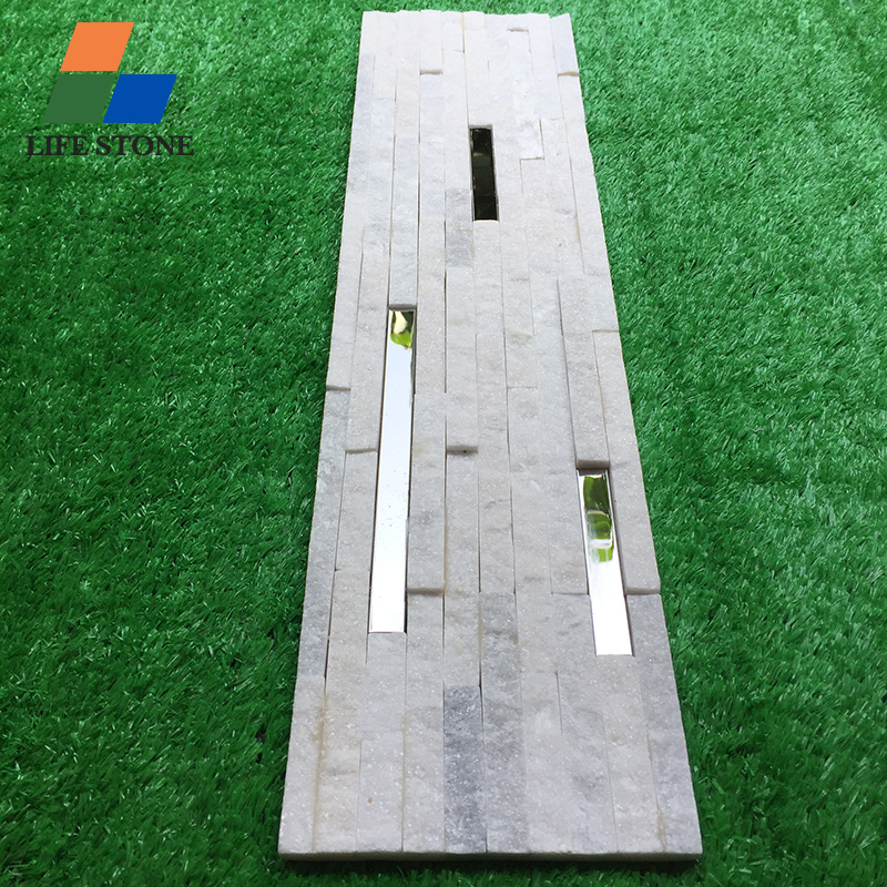 New product natural culture stone with Metal stainless steel