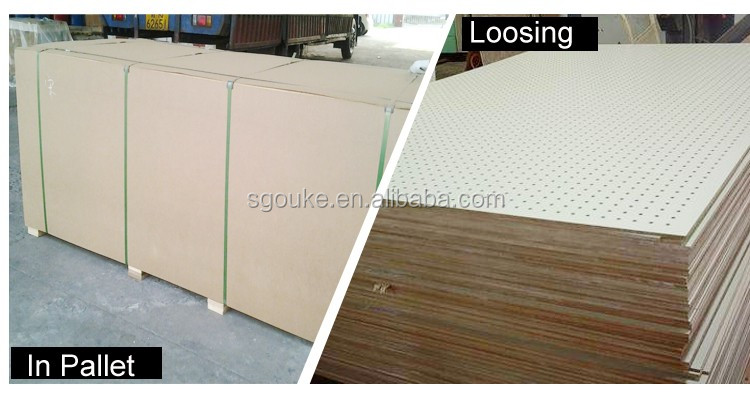 Plain MDF sheet/raw mdf sheet/mdf peg board